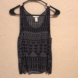 H&M Tribal Pattern Tank Top